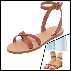 Madewell | Boardwalk Crisscross Leather Sandals